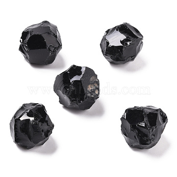 Rough Natural Obsidian Beads, No Hole/Undrilled, Round, 21~23mm(G-H239-02)