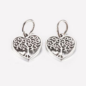 Antique Silver Heart Alloy Pendants