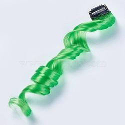 les accessoires de cheveux mode des femmes, pinces à cheveux instantanés de fer, perruques colorées avec fibre chimique, lime, 50x3.25 cm(PHAR-TAC0001-001)