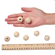 Unfinished Natural Wood Beads Spacer Craft Beads for DIY Macrame Rosary Jewelry(X-WOOD-S651-25mm-LF)-3