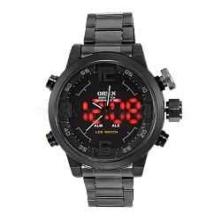 Мода из нержавеющей стали мужские наручные часы электронные, серые, 70 мм(WACH-I005-07C)