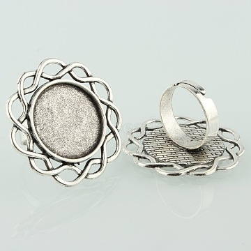 Antique Silver Iron Ring Components