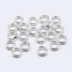 Anneaux de jonction avec double boucle en 925 argent sterling, argenterie, 5x1 mm; diamètre intérieur: 3.5 mm(STER-F036-01S-0.6x5mm)