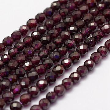 4mm Purple Round Garnet Beads