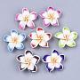 30mm Couleur Mixte Fleur Fimo Perles(X-CLAY-R088-08)