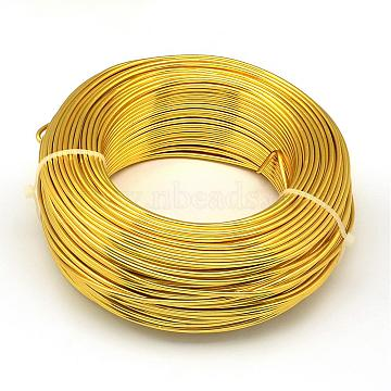 Aluminum Wire, Bendable Metal Craft Wire, for DIY Jewelry Craft Making, Gold, 3 Gauge, 6.0mm; 7m/500g(22.9 Feet/500g)(AW-S001-6.0mm-14)