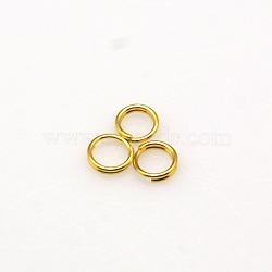 латунные разрезные кольца, никель свободный, золотой, 5x1.2 мм; около 3.8 мм внутреннего диаметра; о 370 шт / 20 г(X-JRDC5MM-NFG)