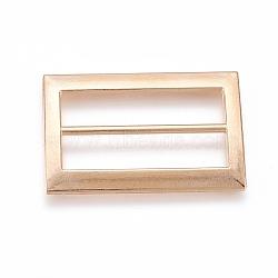 Boucles en alliage, rectangle, or, 25.5x19x2 mm, trou: 5x20 mm(X-PALLOY-WH0059-01A-G)