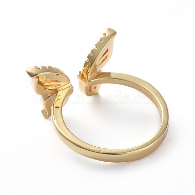Adjustable Brass Cuff Finger Rings(RJEW-G096-03G)-3