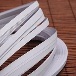 Bandes de papier quilling, blanc, 530x5mm; à propos 120strips / sac(X-DIY-J001-5mm-B33)