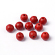 Dyed Red Round Synthetical Howlite Loose Beads(X-TURQ-G609-8mm)-1