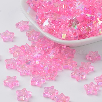 10mm Pink Star Acrylic Beads