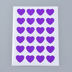 Autocollants en papier kraft, étiquettes autocollantes jet d'encre, cœur, indigo, 120x88mm; coeur: 14x16mm; environ 24pcs / feuille, 12TIRAGES / sac(AJEW-WH0077-01C)