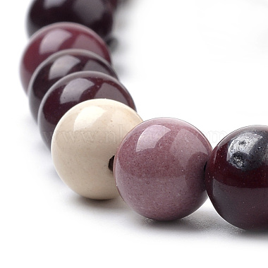 Natural Mookaite Beads Strands(X-G-S259-37-8mm)-3