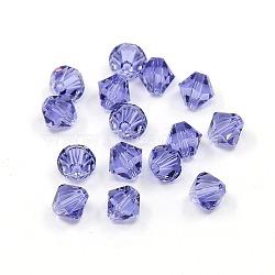 Perles de cristal autrichien, Tanzanite 6 bicone, taille: environ 5301 mm de long,  largeur de 6 mm, Trou: 6mm(X-5301-6mm539)