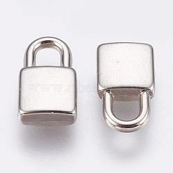 Пластмассовые подвески ccb, запирать, платина, 14.5x8.5x3.5 мм, отверстие : 3.5x4 мм(CCB-F008-04P)