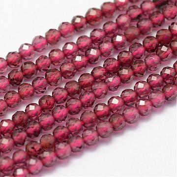 2mm DarkRed Round Garnet Beads