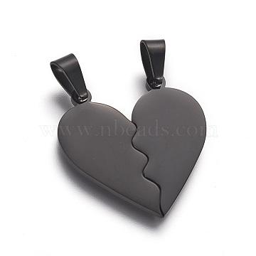 Gunmetal Heart Stainless Steel Pendants