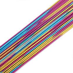 fil de fer, coloré, Jauge 26, 0.4 mm; 80 cm / brin; 50 brin / sac(MW-S002-01A-0.4mm)
