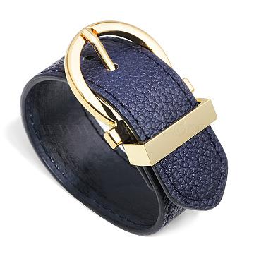 PrussianBlue Leather Bracelets