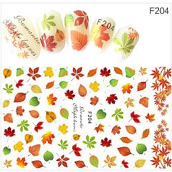 Stickers autocollants à ongles, pour la conception d'art d'ongle, motif de feuille, colorées(MRMJ-G005-05J)