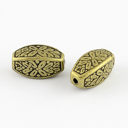 Rectangle Antique Acrylic Beads, Antique Bronze, 13x7x7mm, Hole: 2mm(X-PACR-S209-07AB)