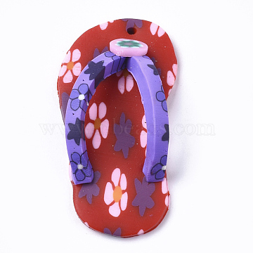 Crimson Shoes Polymer Clay Pendants