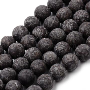 10mm Round Snowflake Obsidian Beads