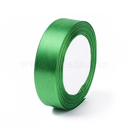 """Ruban satin, verte, 1"""" (25 mm) de large, 25yards / roll (22.86m / roll), 5 rouleaux / groupe, 125yards / groupe (114.3m / groupe)(RC25mmY019)"""