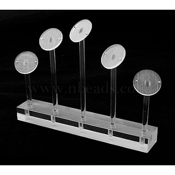 Organic Glass Earring Display, Jewelry Display Rack, White, Size: about 150mm wide, 25mm long, 115mm high.(X-A2CDG021)