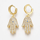 Brass Micro Pave Cubic Zirconia Dangle Earrings(EJEW-S201-18G)-1