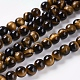 Natural Tiger Eye Beads Strands(G-C076-6mm-1B)-1