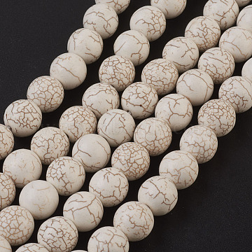 Synthetic Magnesite Beads Strands, Round, 12mm, Hole: 1.5mm(X-TURQ-S192-12mm-1)
