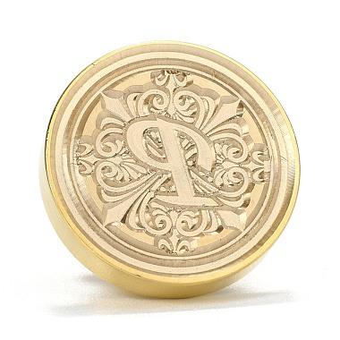 Brass Retro Initials Wax Sealing Stamp(AJEW-F045-D16)-3