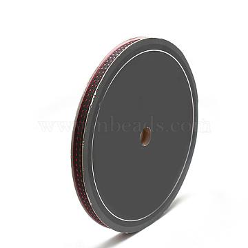 Braided Nylon Ribbons, Red, 3/8inch(10mm); about 30yards/roll(27.432m/roll)(SRIB-N003-08C)