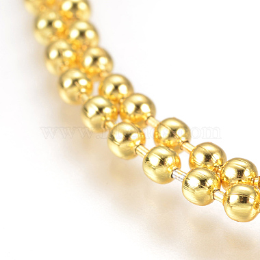 Stainless Steel Ball Chain Necklace Making(X-MAK-L019-01E-G)-2
