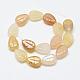 Carved Natural Topaz Jade Beads Strands(G-T122-05E)-2