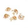 Real Gold Plated Brass Peg Bails(KK-I666-22G)