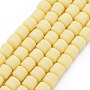 Champagne Yellow Column Polymer Clay Beads(CLAY-T001-C46)