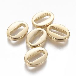 304 étiquettes de chaîne en acier inoxydable, connecteurs d'extension de chaîne, ovale, or, 13.5x10.5x3 mm; diamètre intérieur: 10.5x3.5 mm(STAS-L233-016G)