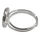 Brass Pad Ring Base Findings(X-KK-J2673-12mm-P-NF)-2
