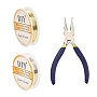 Copper Jewelry Wire with 6-in-1 Bail Making Pliers, Mixed Color, 0.3mm, 2Rolls/Set