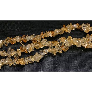 5mm Yellow Chip Citrine Beads