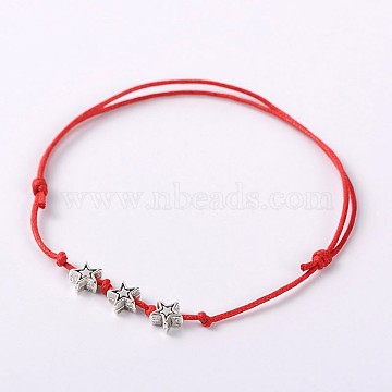 Red Waxed Cord Bracelets