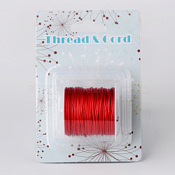 Waxed Polyester Cords, Red, 1mm; about 10m/roll(X-YC-R004-1.0mm-02)