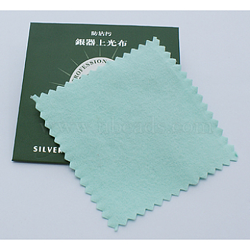 Silver Polishing Cloth, Jewelry Cleaning Cloth, Sterling Silver Anti-Tarnish Cleaner, Square, about 7.5cm wide, 7.5cm long(X-JT007-1)