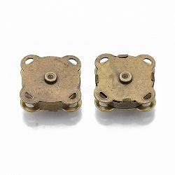 Fer fermoirs bourse d'accrochage, fermeture pour sac à main, bronze antique, 19x19x7mm, Trou: 1.5x2mm(X-IFIN-R203-68AB)