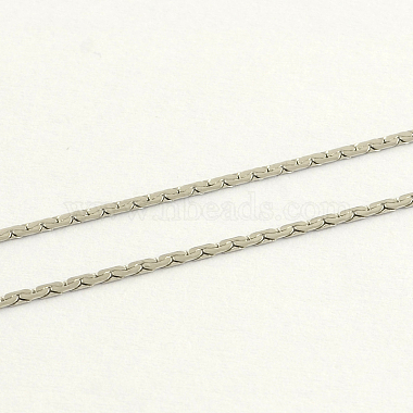 304 Stainless Steel Popcorn Chain Necklaces(NJEW-R223-08)-2