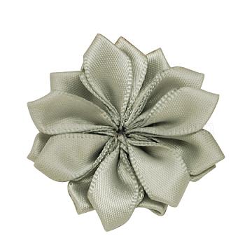 LightGrey Handmade Woven Flower Costume Accessories, 37x37x7mm(X-WOVE-QS17-23)