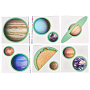 Colorful Moon Plastic Decoration(AJEW-WH0057-01)